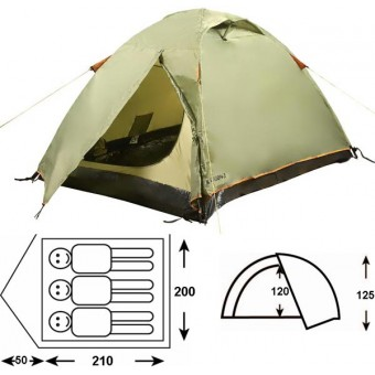Туристическая палатка Outdoor Project Orion 3 Fgм