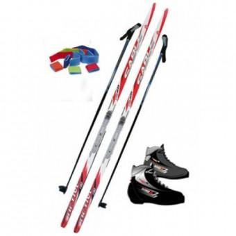 Беговые лыжи (комплект:лыжи, ботинки, палки)